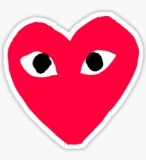 comme des garcons red heart Sticker