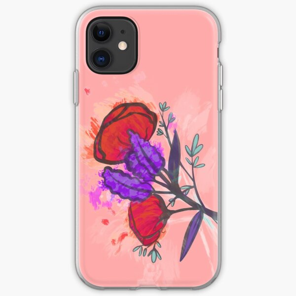 Pretty Watercolor Painted Poppy Flowers iPhone Soft Case