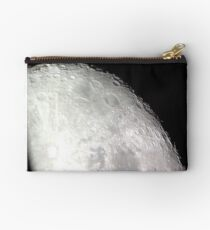 Ahhh the Moon! Look at those craters!! A photograph in honor of all things natural around us. Studio Pouch