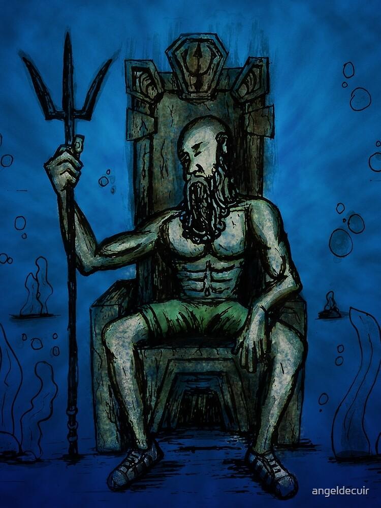 Bearded King Underwater by angeldecuir