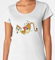 Calvin and Hobbes happy Women's Premium T-Shirt