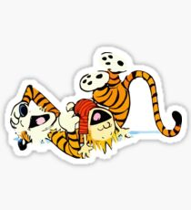 Calvin and Hobbes happy Sticker