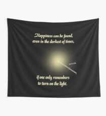 HP happiness quote Wall Tapestry