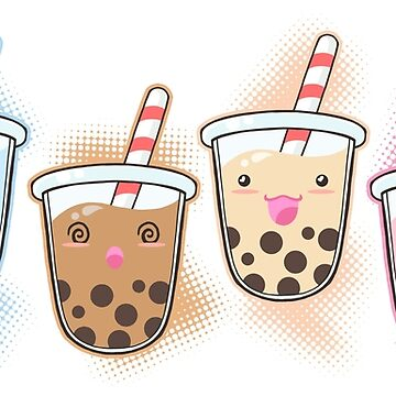 Tapioca Bubble Tea Friends by beaglecakes