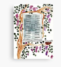 Wisteria Window Treatment Canvas Print