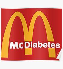 Mc Diabetes Parody Logo Poster