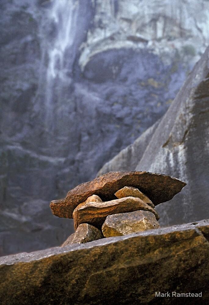 Rock Cairn Bridalveil Fall by Mark Ramstead