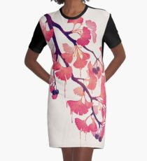 O Ginkgo Graphic T-Shirt Dress