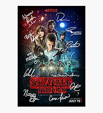 Signed Stranger Things Poster Photographic Print