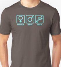 Popular Female Male Geek USB symbols XC100 Trending Unisex T-Shirt