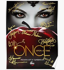 Signed Once Upon a Time Poster Poster