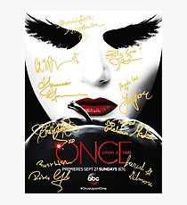 Signed Once Upon A Time Poster Photographic Print