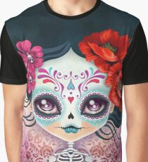 Amelia Calavera - Sugar Skull Graphic T-Shirt