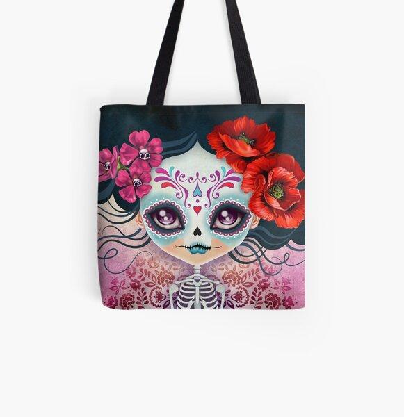 Amelia Calavera - Sugar Skull All Over Print Tote Bag