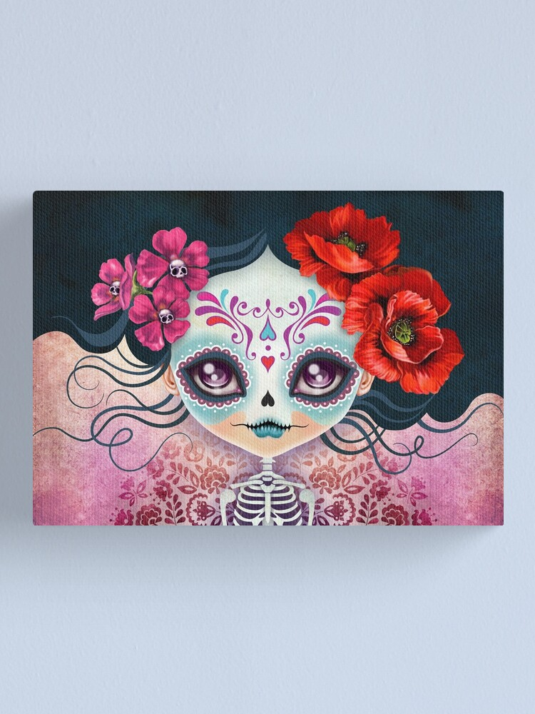 Alternate view of Amelia Calavera - Sugar Skull Canvas Print