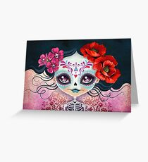 Amelia Calavera - Sugar Skull Greeting Card
