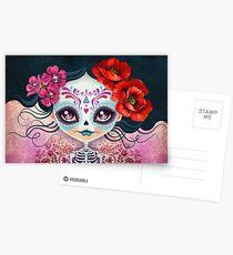 Amelia Calavera - Sugar Skull Postcards