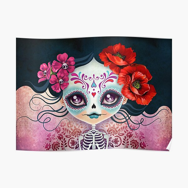 Amelia Calavera - Sugar Skull Poster