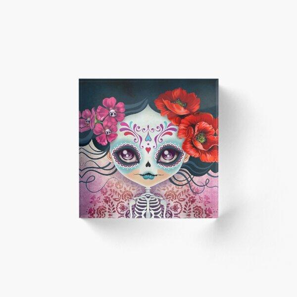Amelia Calavera - Sugar Skull Acrylic Block