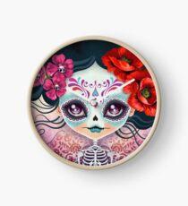 Amelia Calavera - Sugar Skull Clock