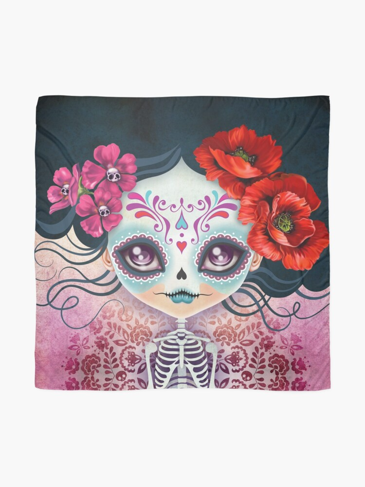 Alternate view of Amelia Calavera - Sugar Skull Scarf