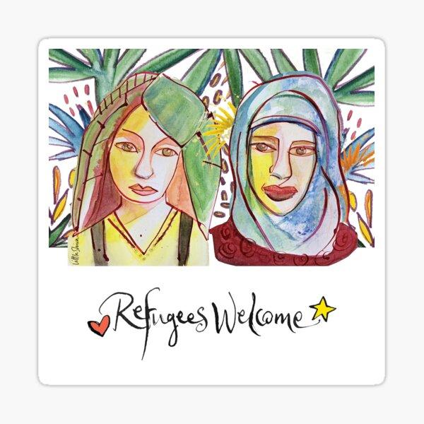 Refugees Welcome — the original Sticker