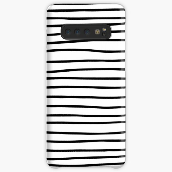 Modern simple trendy black white striped pattern Samsung Galaxy Snap Case