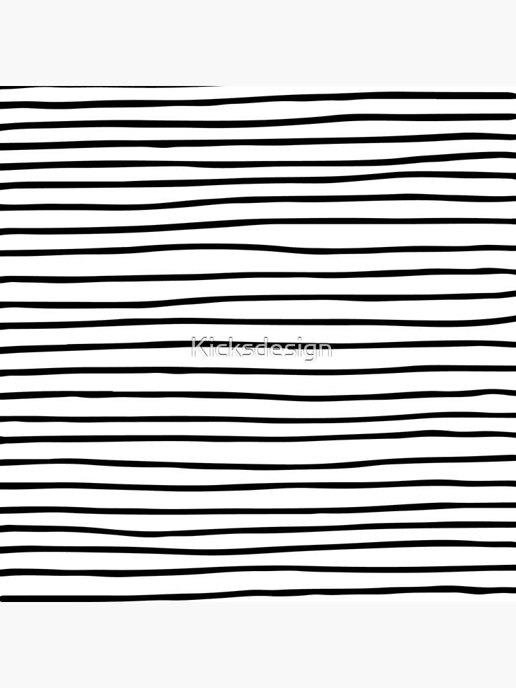 Modern simple trendy black white striped pattern by Kicksdesign
