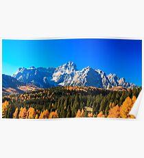 Autumn trekking in the alpine Pusteria valley Poster