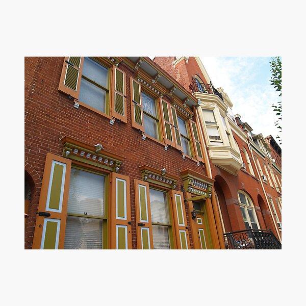 Homes on Prince Street, Lancaster, PA Photographic Print
