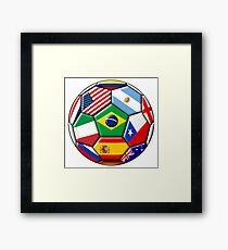 Brazil 2014 - soccer with various flags Framed Print