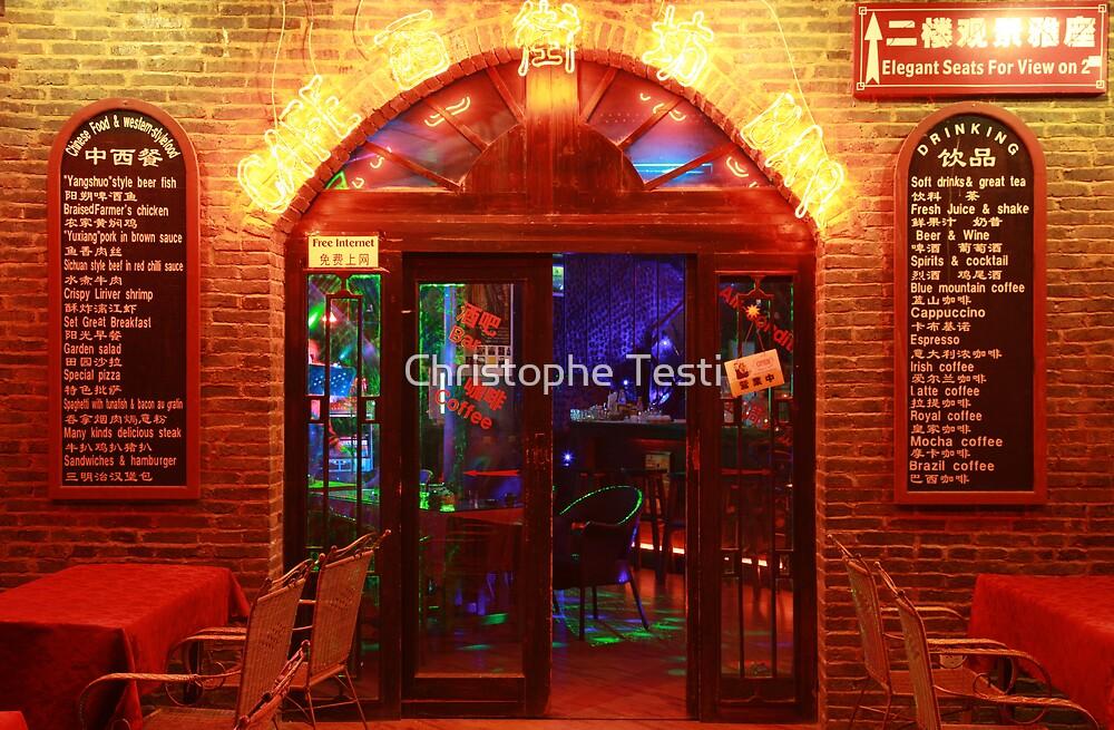 Coffee Bar in Yang Shuo, China by Christophe Testi