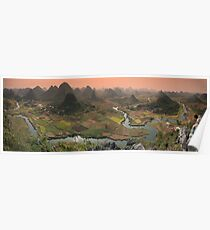 Guilin Mountains Poster