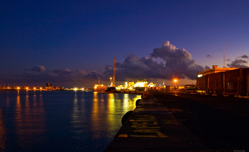 lights at the port of Catania by Andrea Rapisarda