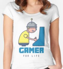 Gamer For Life Women's Fitted Scoop T-Shirt