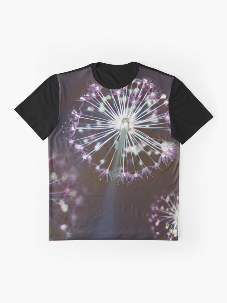 Alternate view of Floral Fireworks. Dark Floral Graphic T-Shirt