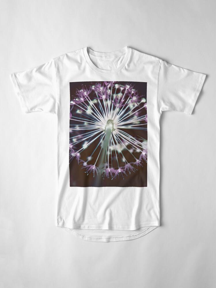 Alternate view of Floral Fireworks. Dark Floral Long T-Shirt