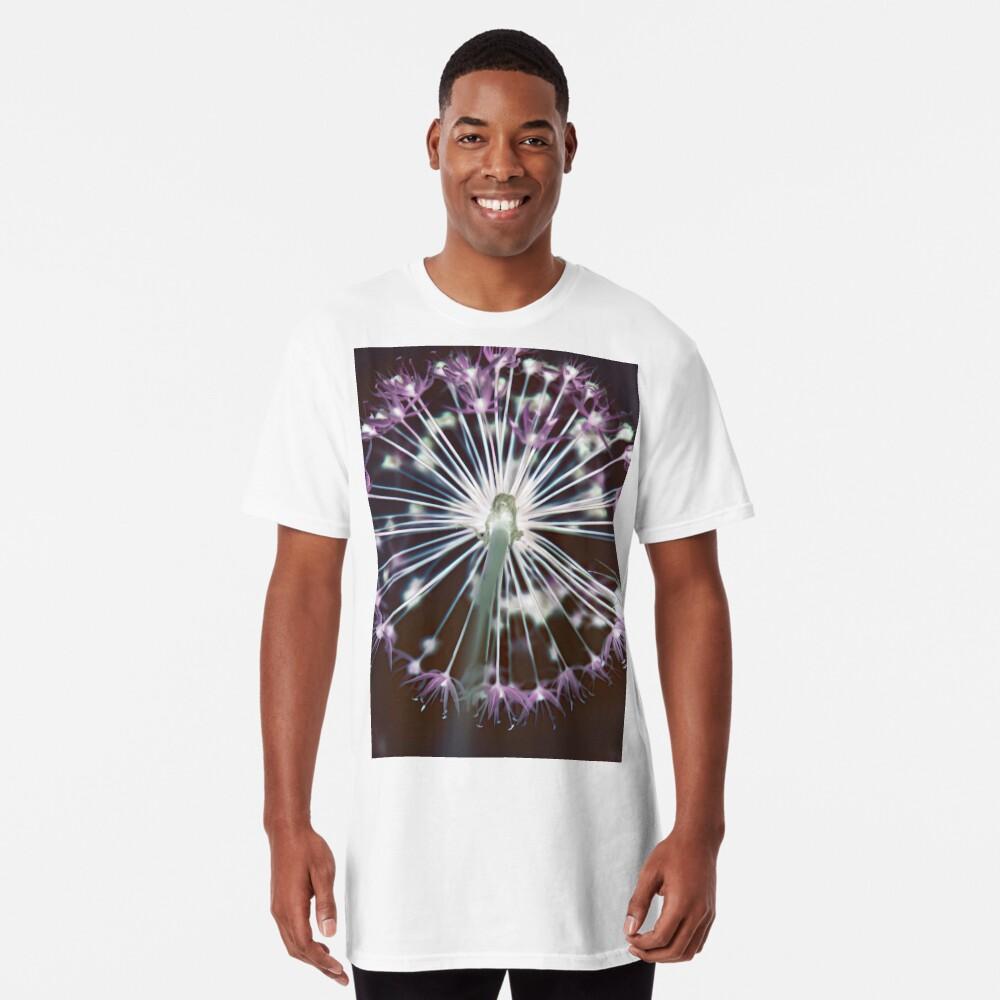Floral Fireworks. Dark Floral Long T-Shirt