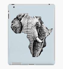 African Bull Elephant in Shape of Africa iPad Case/Skin