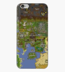 Runescape map iPhone Case