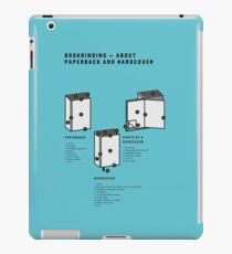 Bookbinding – About Paperback and Hardcover (in English) iPad Case/Skin