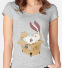 Nood-animal box rabbit Women's Fitted Scoop T-Shirt