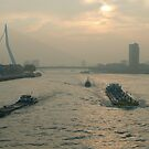 A Rotterdam river scene in November by jchanders