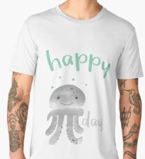 Happy Smiling Pi Octopus - Pi Day Men's Premium T-Shirt