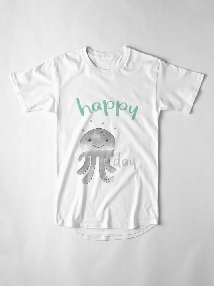 Alternative Ansicht von Glückliche lächelnde PU-Krake - PU-Tag Longshirt