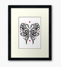 Summer. Two snakes forming a butterfly together. Framed Print