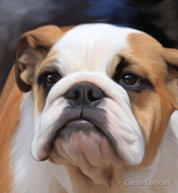 British Bulldog puppy.. by Cazzie Cathcart