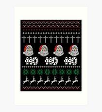 HO HO HO CHRISTMAS Art Print