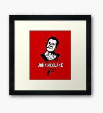 John McClane Die Hard Bruce  Framed Print