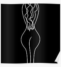 Woman body line art #redbubble #decor #buyart #artprint Poster